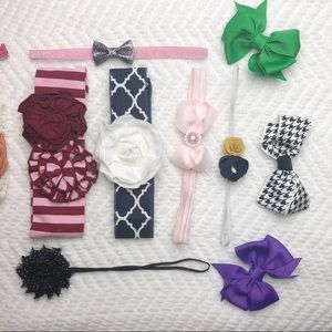 Other - Little Girls Bow and Headband Lot